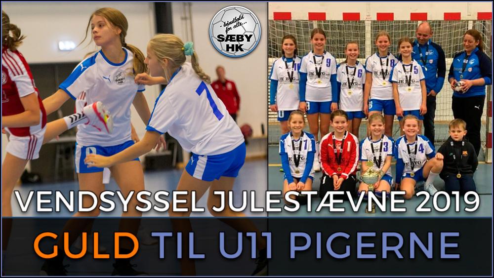 U11 pigerne vinder Vendsyssel Julestævne 2019