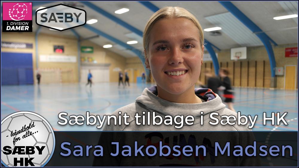 BREAKING NEWS | Sara Jakobsen Madsen skifter til Sæby HK og debuterer mod Roskilde Håndbold lørdag..